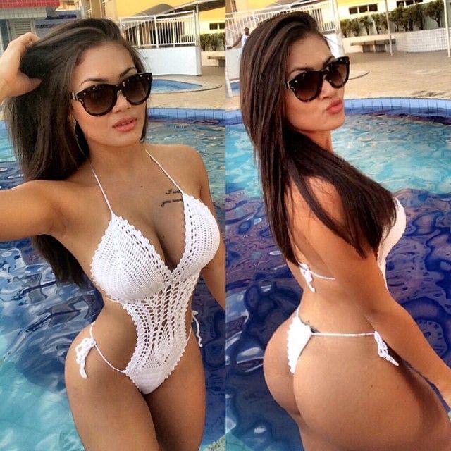 Morena gostosa famosinha do Instagram mostra o corpo sensual